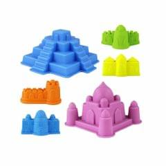 Sand Sandbeach Castle Model Kids Beach Castle Water Tools Toys Sand Game Funny Toys Kits for Children, Color Random for Delivery