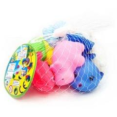 12 PCS Silicone Vocal Cartoon Animal Bath Toy Children Play Water Toys, Random Model Delivery