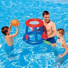 Inflatable Basketball Hoop Swimming Pool Entertainment Facilities, Size:59x59x49 CM