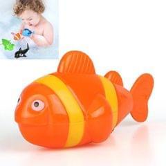 10 PCS Baby Bath Toys Playing in Water Swimming Clockwork Toys (Orange Clown Fish)