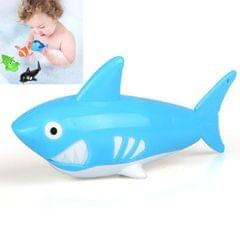 10 PCS Baby Bath Toys Playing in Water Swimming Clockwork Toys (Blue Shark)