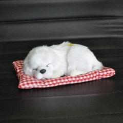 Simulation Will Call the Sleeping Dog Ornaments Toy Creative Doll Children Gift (White)