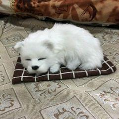 Simulation Will Call the Sleeping Dog Ornaments Toy Creative Doll Children Gift (Samoyed)