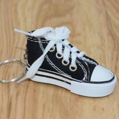 2 PCS Mini Simulation Canvas Shoes Sneaker Keychain Pendant (Black)