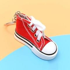 2 PCS Mini Simulation Canvas Shoes Sneaker Keychain Pendant (Red)