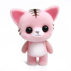 Little Cute PVC Flocking Animal Cat Dolls Creative Gift Kids Toy, Size: 5.5*3.5*6.5cm (Pink)