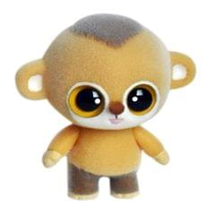 Little Cute PVC Flocking Animal Monkey Dolls Creative Gift Kids Toy, Size: 6.3*4.5*7cm (Yellow)
