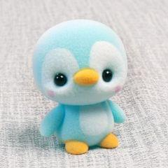 Little Cute PVC Flocking Animal Penguin Dolls Birthday Gift Kids Toy, Size: 4*4*5.5cm (Blue)