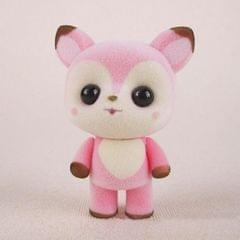Little Cute PVC Flocking Animal Deer Dolls Birthday Gift Kids Toy, Size: 5*3.5*7cm (Pink)