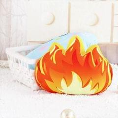 Cartoon Simulation Cactus Pillow Creative Nordic Fresh Fire Cloud Cushion Removable And Washable Cack Birthday Gift (Fire-L)