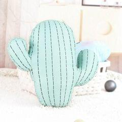 Cartoon Simulation Cactus Pillow Creative Nordic Fresh Fire Cloud Cushion Removable And Washable Cack Birthday Gift (Cactus-L)