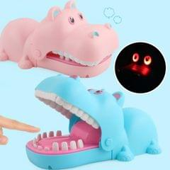 Cartoon Creative Hippo Shape Bite Hand Novelty Tricky Toys with Light and Music, Random Color Delivery