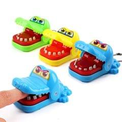 3 PCS Cartoon Mini Crocodile Bite Hand Novelty Tricky Toys, Random Color Delivery