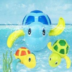 Cartoon Turtle Shape Clockwork Toy Babies Bathing Play Water Toy Children Educational Toy (Light Blue)