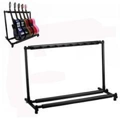 Foldable Long Metal Guitar Display Stand Shelf, Specification:Nine Racks