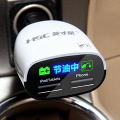 HSC YC-02 Multi-function Car Auto Fuel Economizer Dual USB 3.4A Charger Car Battery Detection EFS Battery Saving Circuit
