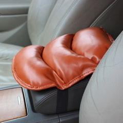 Comfortable Automotive Armrest Mats, Size: 28x20cm (Brown)