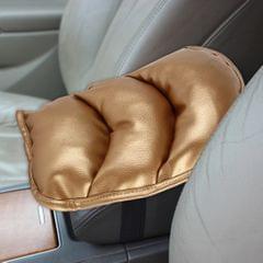 Comfortable Automotive Armrest Mats, Size: 28x20cm (Gold)