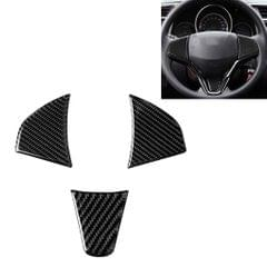 3 in 1 Car Carbon Fiber Steering Wheel Button Decorative Sticker for Honda Fit, Left and Right Drive Universal