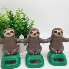 Novelty Solar Toys Plastic ABS Sloth Solar Powered Dancing for Car Decoration