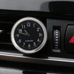 Car Outlet Clock Car Luminous Material Car Clock Car Electronic Watch Car Air Conditioning Outlet Perfume Ornaments with Balm (Black)