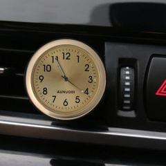 Car Outlet Clock Car Luminous Material Car Clock Car Electronic Watch Car Air Conditioning Outlet Perfume Ornaments with Balm (Gold)
