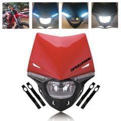 Speedpark Cross-country Motorcycle LED Headlight Headlamp Assembly for (Red)