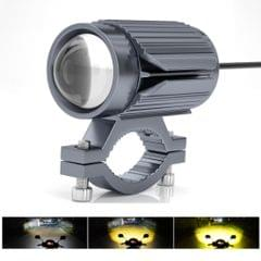 CS-1123A1 Motorcycle Electric Car Universal External LED Three-color Headlights Lens Spotlight, Handlebar Version