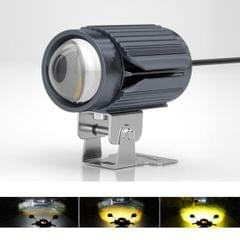 CS-1123B1 Motorcycle Electric Car Universal External LED Three-color Headlights Lens Spotlight, Rearview Mirror Version