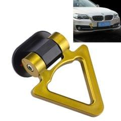 Car Truck Bumper Triangle Tow Hook Adhesive Decal Sticker Exterior Decoration (Yellow)