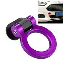 Car Truck Bumper Round Tow Hook Ring Adhesive Decal Sticker Exterior Decoration (Purple)