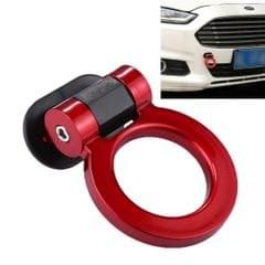 Car Truck Bumper Round Tow Hook Ring Adhesive Decal Sticker Exterior Decoration (Red)