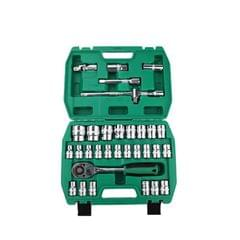TUOSEN 32 In 1 Sleeve Combination Tool Auto Repair Tool Casing Wrench Set, Style:Mirror