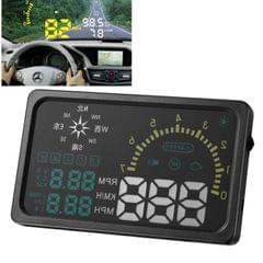 6 Inch Car HUD Head Up Display Vehicle-mounted Security System with OBDII Interface & Speed & Fuel Consumption & Water Temperature & Fault Diagnosis & Compass, Etc