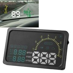 6 Inch Car HUD Head Up Display Vehicle-mounted Security System with OBDII Interface & Speed & Fuel Consumption & Water Temperature & Fault Diagnosis, Etc
