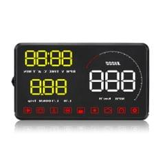 A9 5.5 inch Universal Car OBD2 HUD Vehicle-mounted Head Up Display (Yellow)