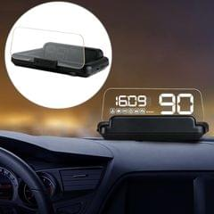 C500 Car HUD Virtual HD Projection Head-up Display, With Adjustable Reflection Board, Speed & RPM & Water Temperature & Oil Consumption & Driving Distance / Time & Voltage Display, Over Speed Alarm, Connect OBD2 Interface (White)