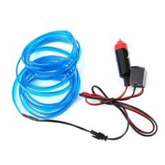 YWXLight 5m LED Car Decorative Thread Sticker Indoor Decals Tags Holiday Accessory Flexible Neon Light EL Wire Rope Tube, DC 12V (Blue)