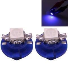 2 PCS B8.4 Blue Light 0.2W 12LM 1 LED SMD 5050 LED Instrument Light Bulb Dashboard Light for Vehicles, DC 12V (Blue)