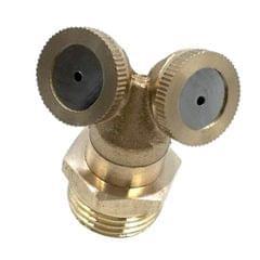 1/2'' Mist Adjustable Garden Hose Nozzle Sprinkler Irrigation Watering 2Hole