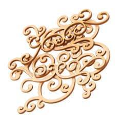 8 Pieces 9-12cm Large Cut Wooden Shape Fancy Flourishes Classical Wooden Plants Embellishments for Scrapbooking DIY Crafts Wedding Party Decoration