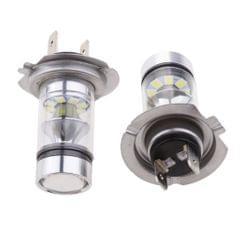 2pcs White H7 Universal Car Headlight Fog Lamp LED Bulb Replacement