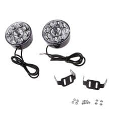 Universal 9LED Round Daytime Running DRL Car Fog Lamp HeadLight White 2PCS