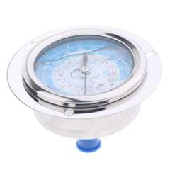 Liquid Filled Pressure Gauge For Water Oil Hydraulic Refrigerant 1.8MPa, Clear and fast reading, dual scale: PSI / MPa