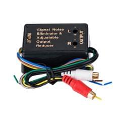 Universal Car Audio Adapter Hi/Lo Level Converter Output to RCA for Home