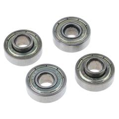 4 Pieces Wheelchair Front Caster Wheel Bearings Shielded for Smoother Ride