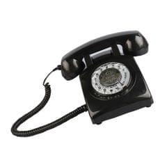 Rotary Retro Rotary Dial Bell Desk Telephone black