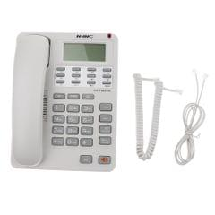 Corded Phone Home Wall Line Office Business Landline Fixed Telephone White