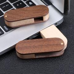 USB 2.0 Flash Drive Maple Wooden Swivel Shaped Pen Drive Memory Stick 128M