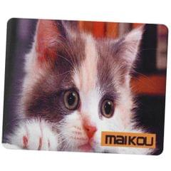 Maikou Gaming Mouse Pad Computer Desk Mat 180*200mm white + gray